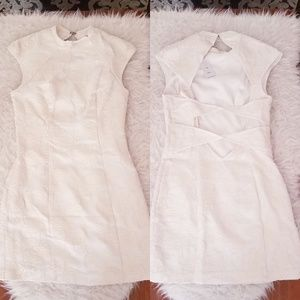 White Asian Inspired Cocktail Dress (size: 4)